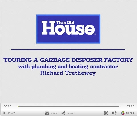 New Garbage Disposal technology