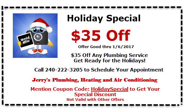 Holiday Plumbing Special