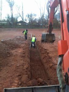 sewer line dig